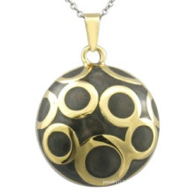 Black Enamel Pendant Gold Jewelry Fashion Pendant