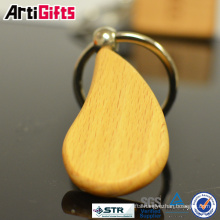 Hottest cheap blank customized logo wooden key ring