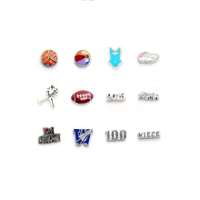 Meaningful hot sale sport floating charms, mini number letter floating charms