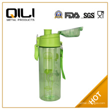 BPA free transparent plastic bottles