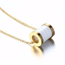 Mode nouveau design en acier inoxydable collier en céramique bijoux