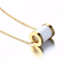 Fashion new design stainless steel ceramic necklace jewelry