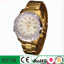 Japan Quartz Movement Water Resistant Golden Watch
