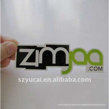customized durable and waterproof pvc label sticker