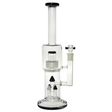 4 Tower Duschkopf Perc Glas Wasserpfeife zum Rauchen (ES-GB-434)