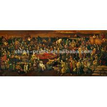 Decoração Clássica da parede Pintura a óleo da lona de Jesus