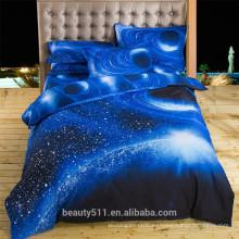 Pequeñas estrellas Hot - venta de cielo estrellado casero de cuatro piezas cama edredón BS19