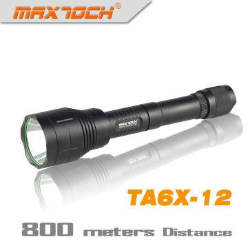 Linterna de LED de largo alcance de Maxtoch TA6X-12 1000 lúmenes 18650