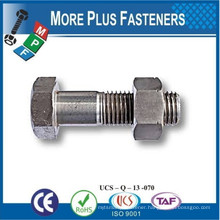 Made in Taiwan ASTM A325 Structural Hexagon Heavy Bolt Hex Head Structural Bolt