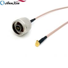 N mâle au câble coaxial RG316 de coaxial de l'adaptateur RF d'angle droit de MCX mâle