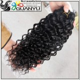 Natural color 100% unprocessed wholesale deep wave cheap virgin malaysian hair overseas hair