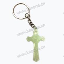 Пластиковая связка святого Бенедикта Блестящая брелка для ключей с распятием Розария, брекетинг с крестом