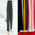 Femmes Trouses Tissus de rayonne Spandex teints unis