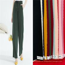 Tejidos lisos del rayón del spandex teñidos tejidos de las mujeres