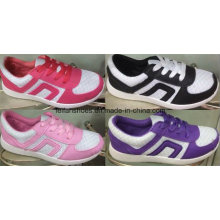 Segeltuch-Einspritzungs-Schuhe des Mode-Entwurfs-Mädchens, verursachende Sport-Schuhe mit niedrigem Preis