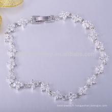 Bracelet bijoux en silicone colombien en or blanc
