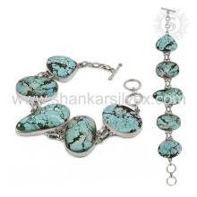 Seraphic turquoise gemstone silver bracelet jewelry 925 sterling silver bracelets jewellery manufacturer