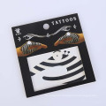 Skin Safe Temporary Sticker Design Non-toxic Fashion Promo Party Hand Black Tattoo Sticker