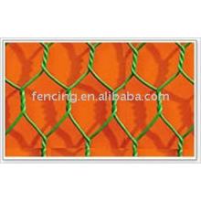treillis métallique hexagonal enduit de PVC