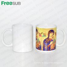 FREESUB 11oz Weißer Blank Sublimation Heat Press Mug