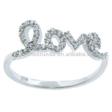 Hot sale Products Cubic Zirconia 'Love' Ring Importer Jewelry