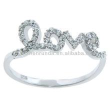 Горячие продажи продукции кубического циркония «любовь» кольцо импортер ювелирных изделий