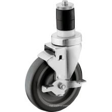 Rodízio expansível da haste da roda de 5 polegadas TPU com freio de roda