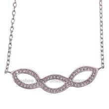 Feine Schmucksachen, Sterlingsilber-Schmucksache-hängende Halskette (KN3008)