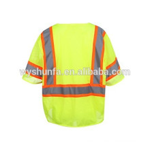 ANSI/ISEA 107-2010 norm reflective vests,polyester tricot mesh fabric ,high visibility reflective vests