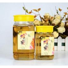 500g 1000g Honey Glass Jar para alimentos con tapa de plástico