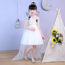 Embroidery Lace Tulle Ivory Flower Girl Dress