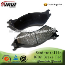 D702 High quality auto brake pad for Chrysler(OE No.: 5080556AA)
