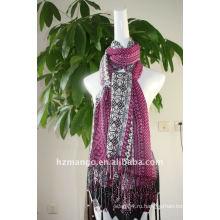 Модный печатный 100 вискозный шарф