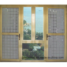 Fenêtres en aluminium de couleur jaune