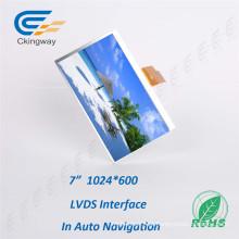 """7 """"1024 * 600 Luz solar visível LCD Display"""