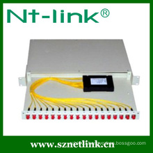 Optic fiber rack mount cable plc splitter
