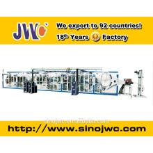 Полностью сервоприводная одноразовая машина для изготовления подушечек для грудей (Double Routes Output)