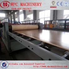 PVC WPC skinning mousse board machine pvc machine à extruder les plume mousse libre