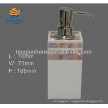 Accessoires de salle de bain en acrylique Distributeur de savon liquide Pink Shell