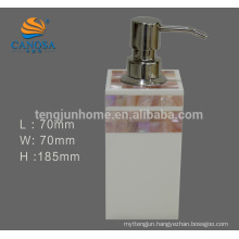 Acrylic bathroom accessories Pink Shell Liquid Soap Dispensers