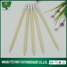 7 '' Natürliche Farbe Holz Bleistift mit Radiergummi