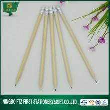 "7 ""lápiz de madera de color natural con borrador"