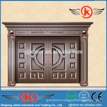 JK-C9013 villa main gate design decoration imitation security copper door