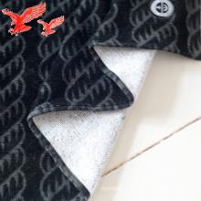 Serviettes en coton noir sur mesure avec logo
