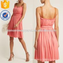 Кожа Пряжка ремень Джерси платье Производство Оптовая продажа женской одежды (TA4065D)