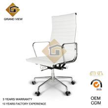 Silla de diseño ergonómico de cuero blanco (GV-EA119)