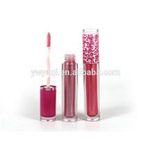 Alta qualidade colorido umidade duradoura personalizado gloss com tubo redondo