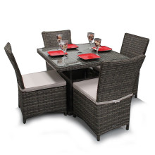 Garden Wicker Chair Dining Set Outdoor Patio Furniture