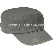 District Threads Distress chapeau militaire chapeau gris