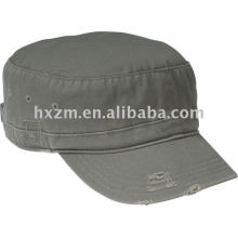 District Threads Distress military cap hat gray